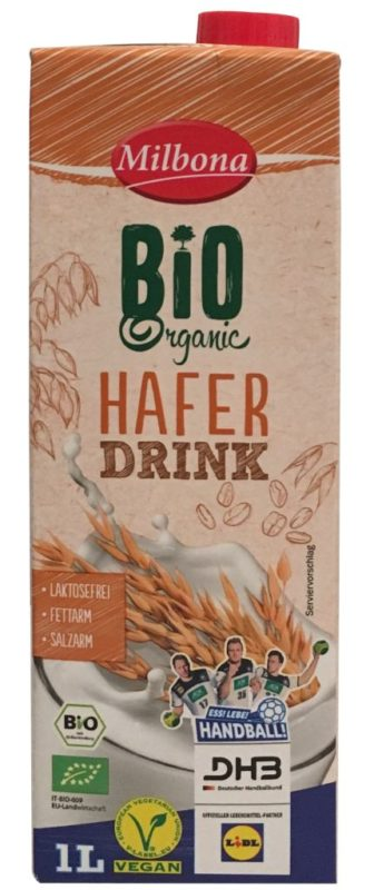 Milbona Bio Haferdrink 08-2019