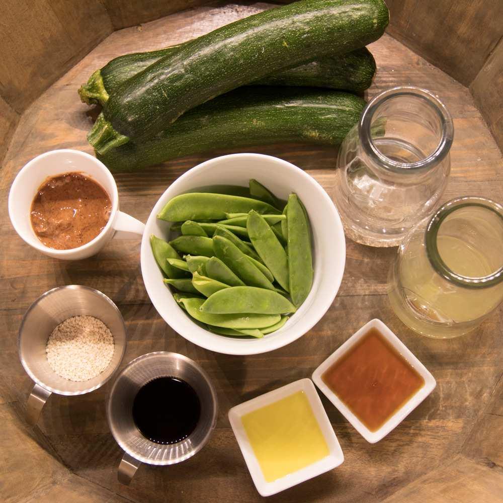 Zutaten Zucchininudeln