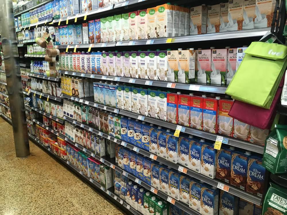 Milchalternativen im Wholefoods Market