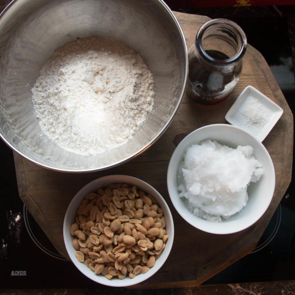 Zutaten Erdnuss-Cookies