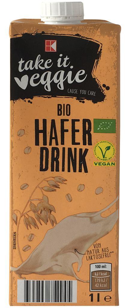 K-take it veggie Bio Haferdrink (Kaufland)