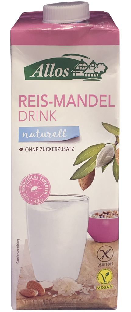 Allos Reis-Mandeldrink naturell