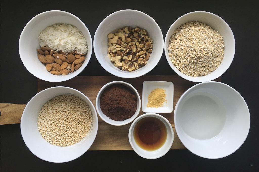 Zutaten Schoko-Granola