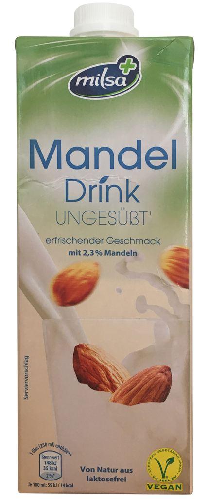 Aldi Nord Milsa Mandel Drink ungesüßt