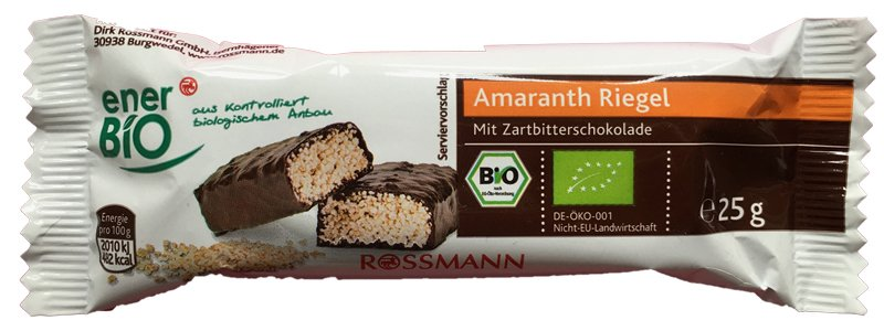 Enerbio Amaranth Riegel Zartbitter