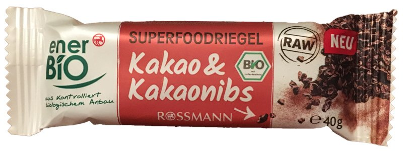 Enerbio Superfood Riegel Kakao & Kakaonibs