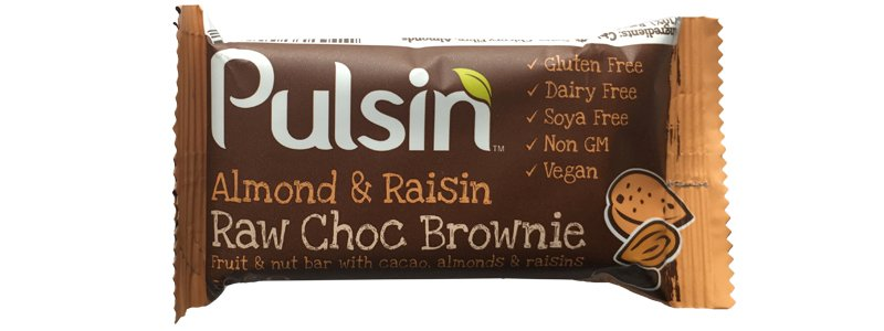 Pulsin Almond & Raisin Raw Choc Brownie
