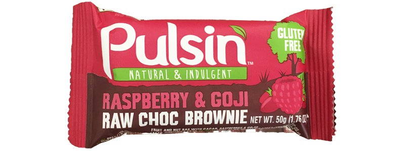 Pulsin Raspberry & Goji Raw Choc Brownie
