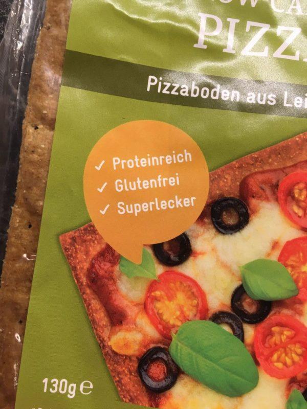 Lizza ist proteinreich, glutenfrei - und superlecker ;)
