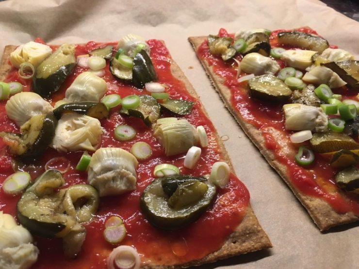 Glutenfreie Pizza mit leckerem Belag :)