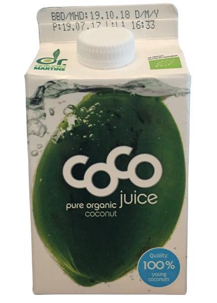 Dr Antonio Martins Coconut Juice pure organic (Tetra Pak)