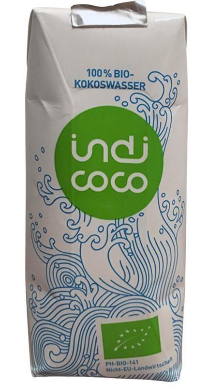 indi coco 100% Bio-Kokoswaaser