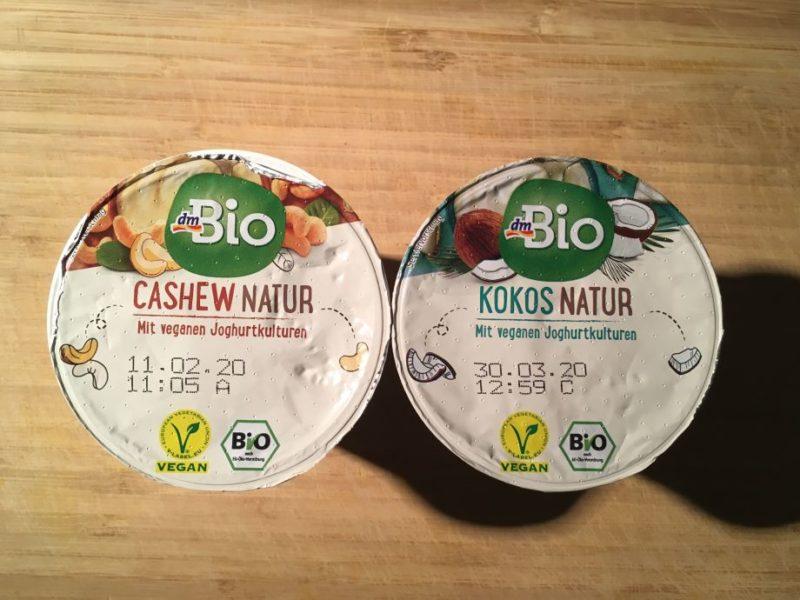 Cashew Natur und Kokosnatur von dmBio